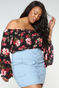So Many Options Off Shoulder Top - Black/combo