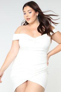 Fancy Seeing You Here Asymmetrical Dress - White Angle 5
