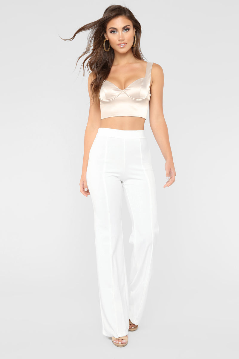 She's A Sweetheart Crop Top - Taupe