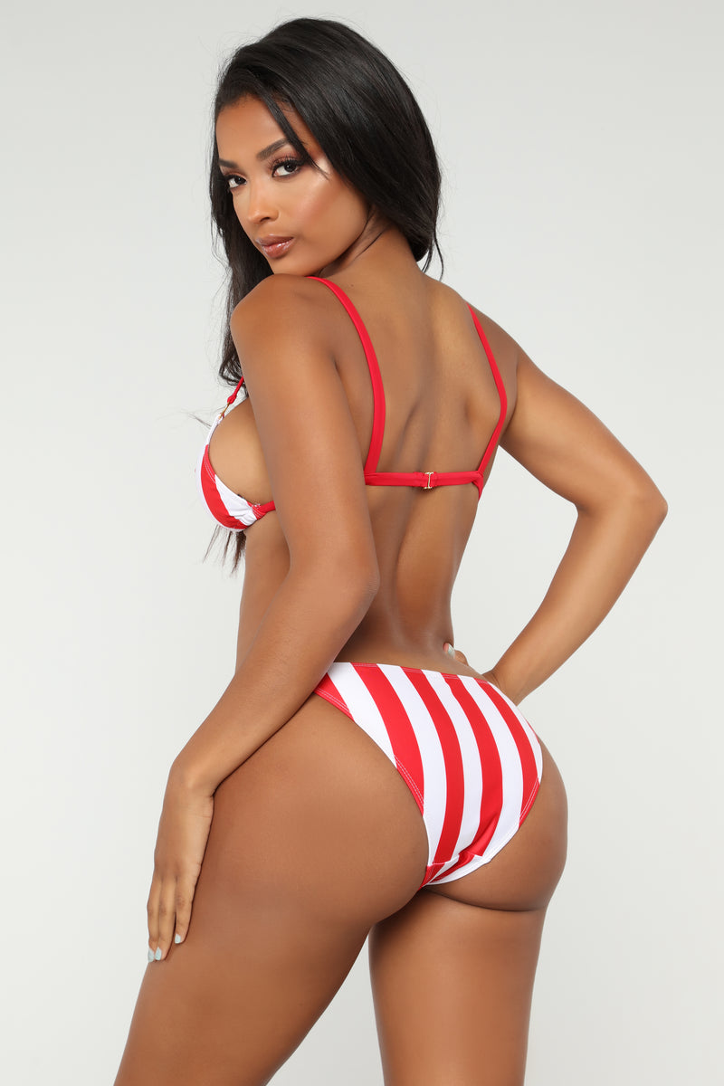 Picture Me Perfect Bikini Set - Red/Combo