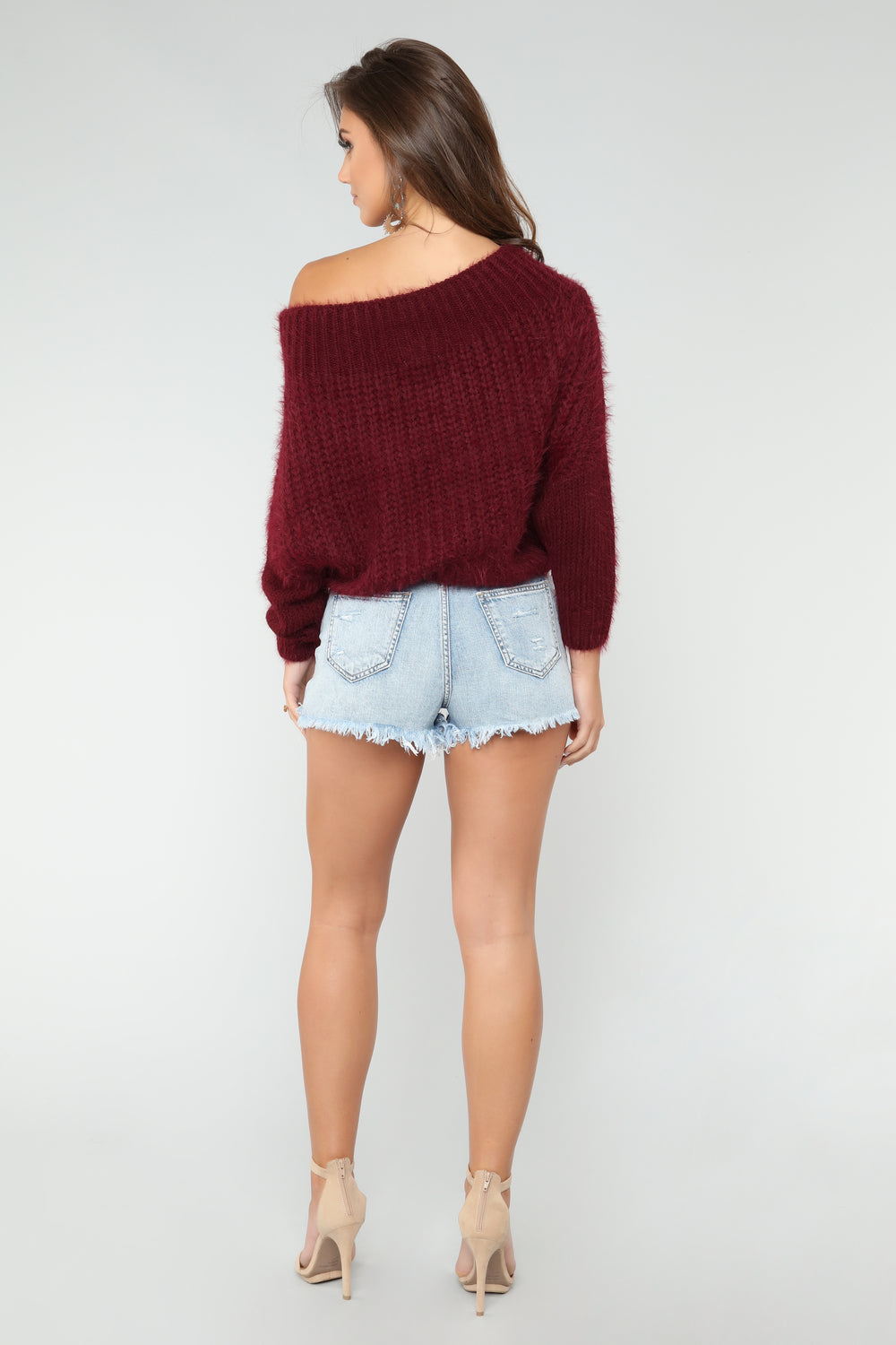 Goes Over My Head Sweater - Burgundy