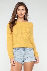 Goes Over My Head Sweater - Mustard