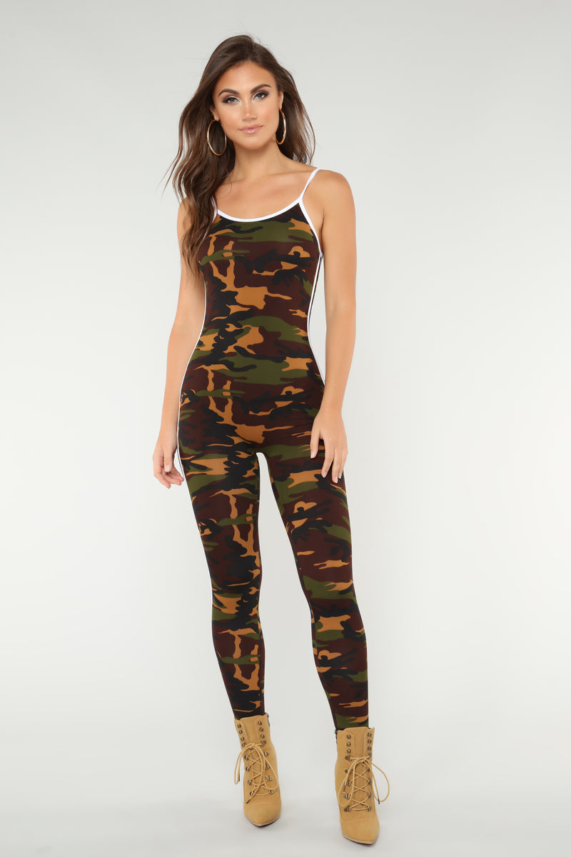 Camo Baby Lounge Jumpsuit - Olive