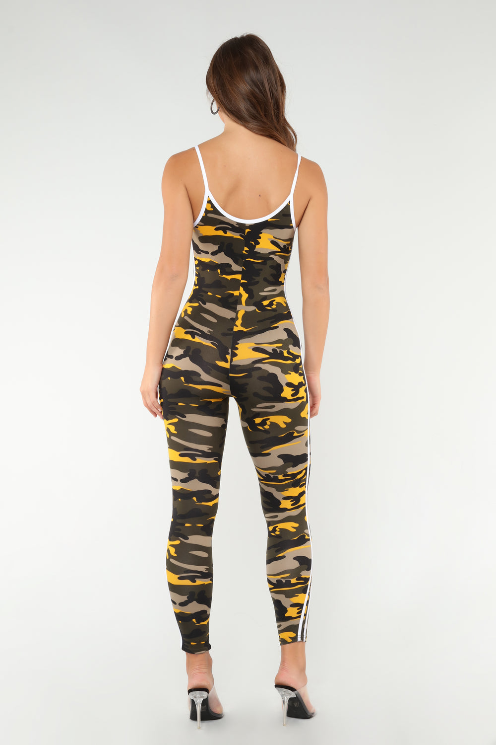 Camo Baby Lounge Jumpsuit - Yellow