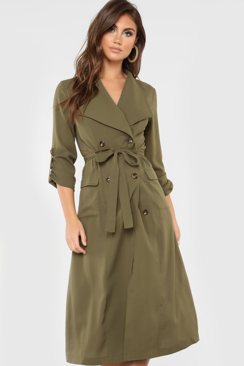 Break Into Song Coat - Olive