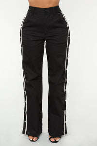 Snap To The Top Pants - Black/Grey Angle 8