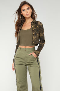 Sir Yes Sir Denim Jacket - Olive/Combo