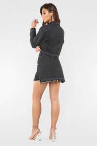 Benny Denim Skirt - Black
