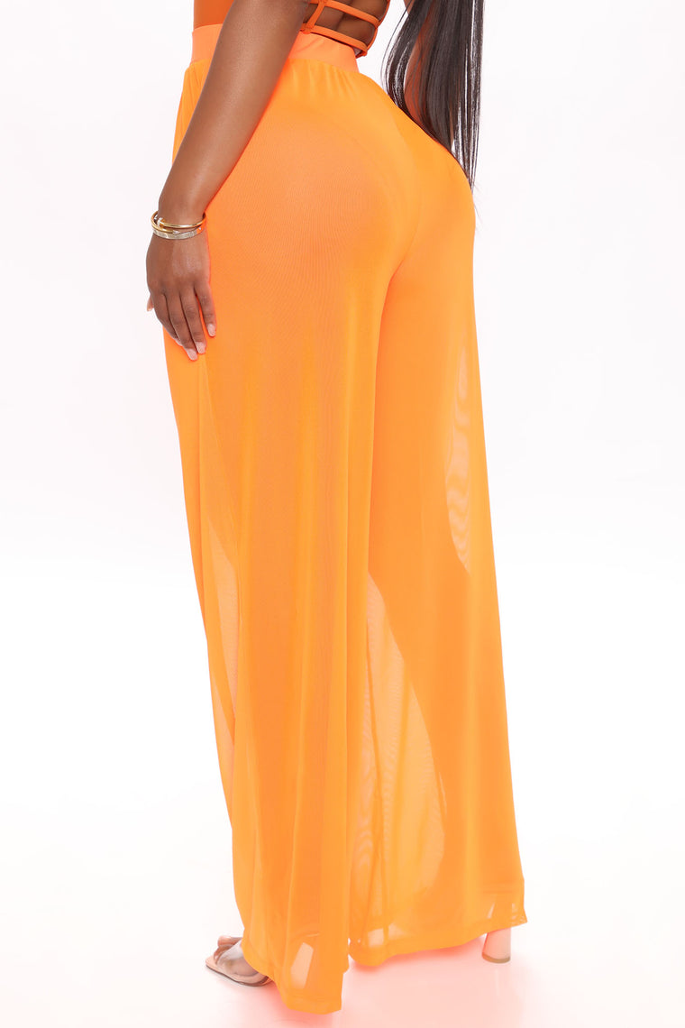 Dare To Cover Coverup Pant - Neon Orange