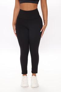 Off Court Full Length Legging In Sculpt Tech - Black Angle 2