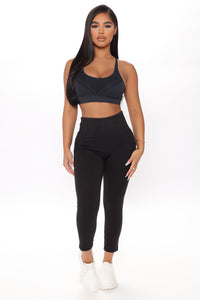 Off Court Full Length Legging In Sculpt Tech - Black Angle 1