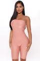 Pretty Girl Reputation Bodycon Romper - Peach
