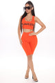 Always Flawless Biker Short Set - Orange