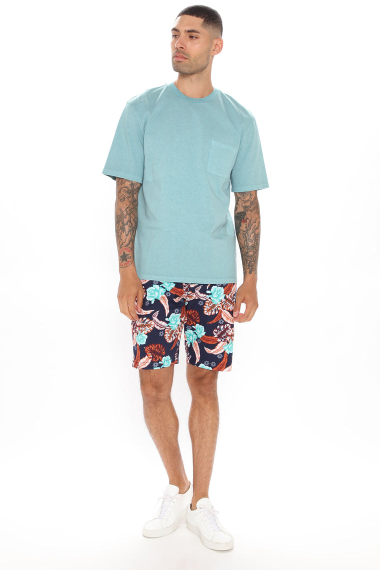 Bora Bora Twill Shorts - Navy/Multi