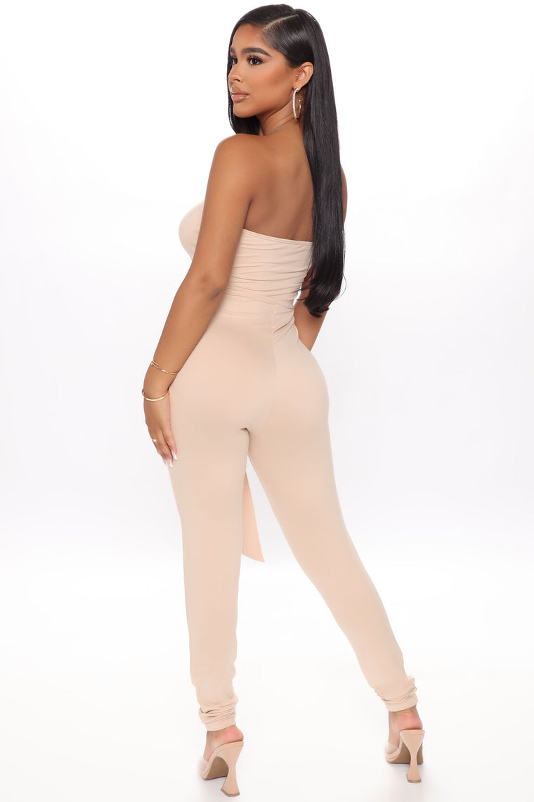 Made The Cut Jumpsuit - Taupe