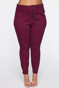 So It Goes High Rise Jeans - Plum