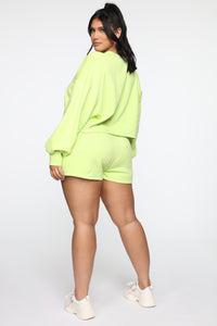 Made A Deal Lounge Shorts - Lime Angle 13