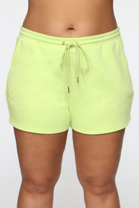 Made A Deal Lounge Shorts - Lime Angle 9