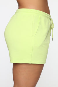 Made A Deal Lounge Shorts - Lime Angle 11