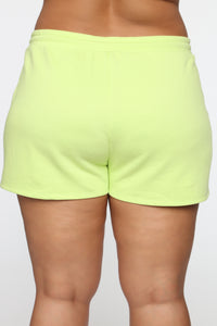 Made A Deal Lounge Shorts - Lime Angle 12