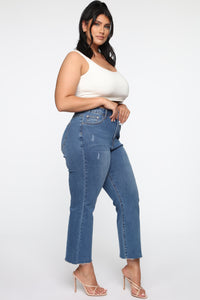 Born Lucky Jeans - Medium Blue Wash Angle 4