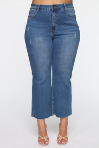 Born Lucky Jeans - Medium Blue Wash Angle 2