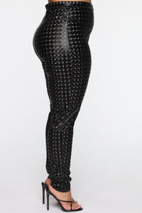 Stand Out 3D Printed Pants - Black Angle 9