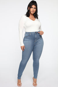Flex Game Strong Super High Rise Skinny Jeans - Light Wash Angle 8