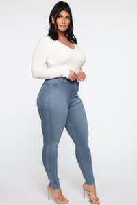 Flex Game Strong Super High Rise Skinny Jeans - Light Wash Angle 11
