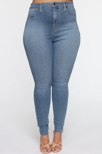 Flex Game Strong Super High Rise Skinny Jeans - Light Wash Angle 9