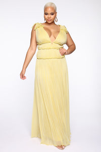 Miss Your Love Maxi Dress - Yellow