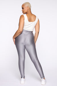 In The Clear Leggings - Charcoal