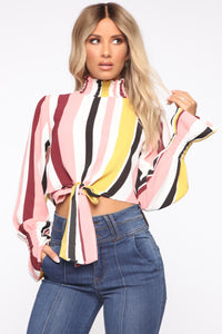 Set It Straight Blouse - Multi Color Angle 1