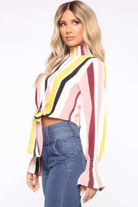 Set It Straight Blouse - Multi Color Angle 4