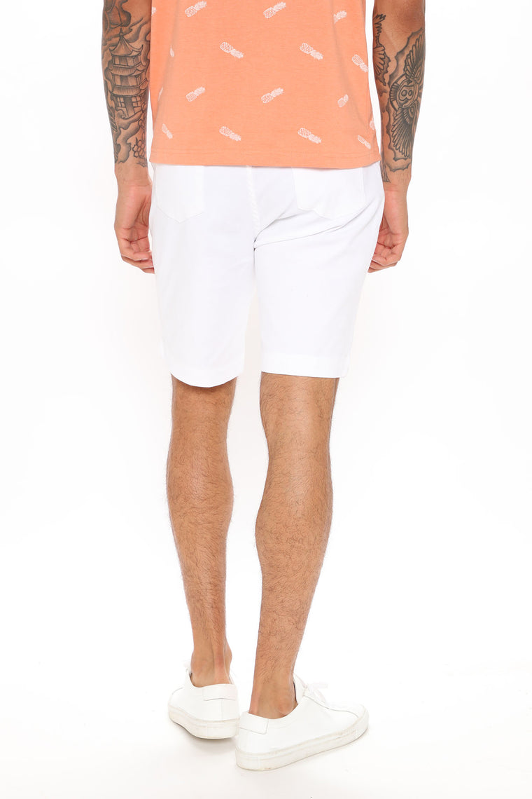 Work From Home Twill Shorts - Off White