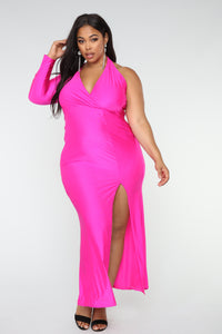 Congeniality Dress - Fuchsia