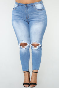 Times Up Skinny Jeans - Medium Blue Wash