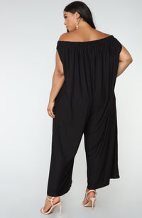 Juliana Wide Leg Jumpsuit - Black