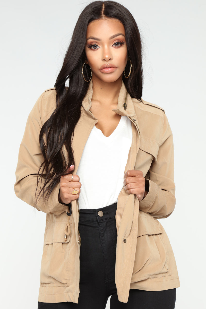 Madison Zip Up Anorak Jacket - Camel