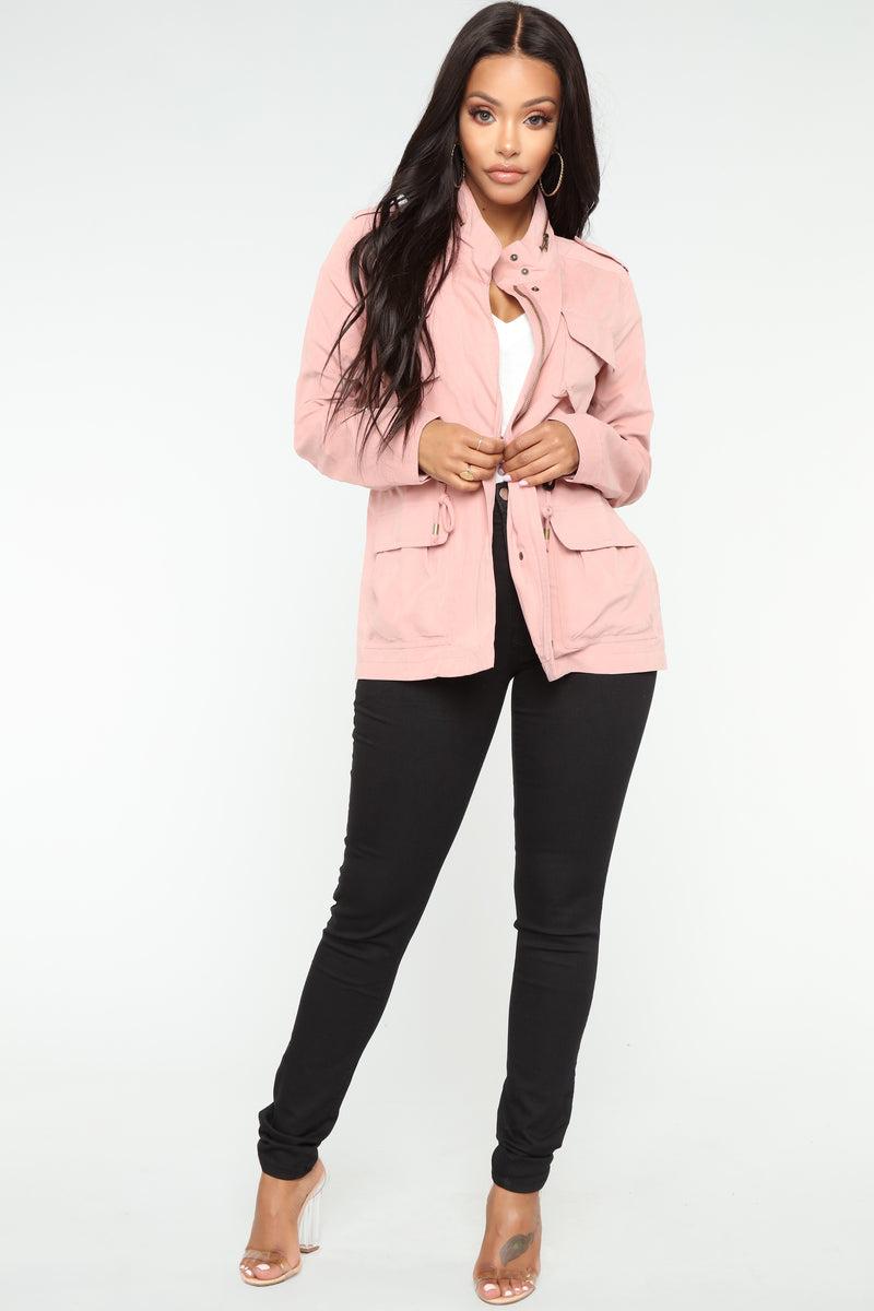 Madison Zip Up Anorak Jacket - Mauve