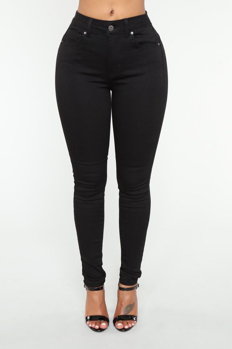 Never Call Me High Rise Jeans - Black