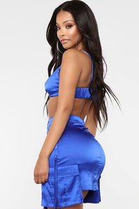 By The Way Satin Set - Royal Blue