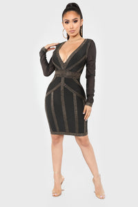 Not The One Bandage Dress - Black