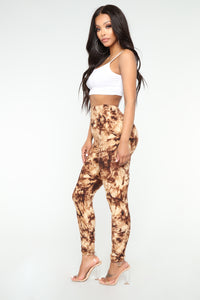Tie Yours Leggings - Brown