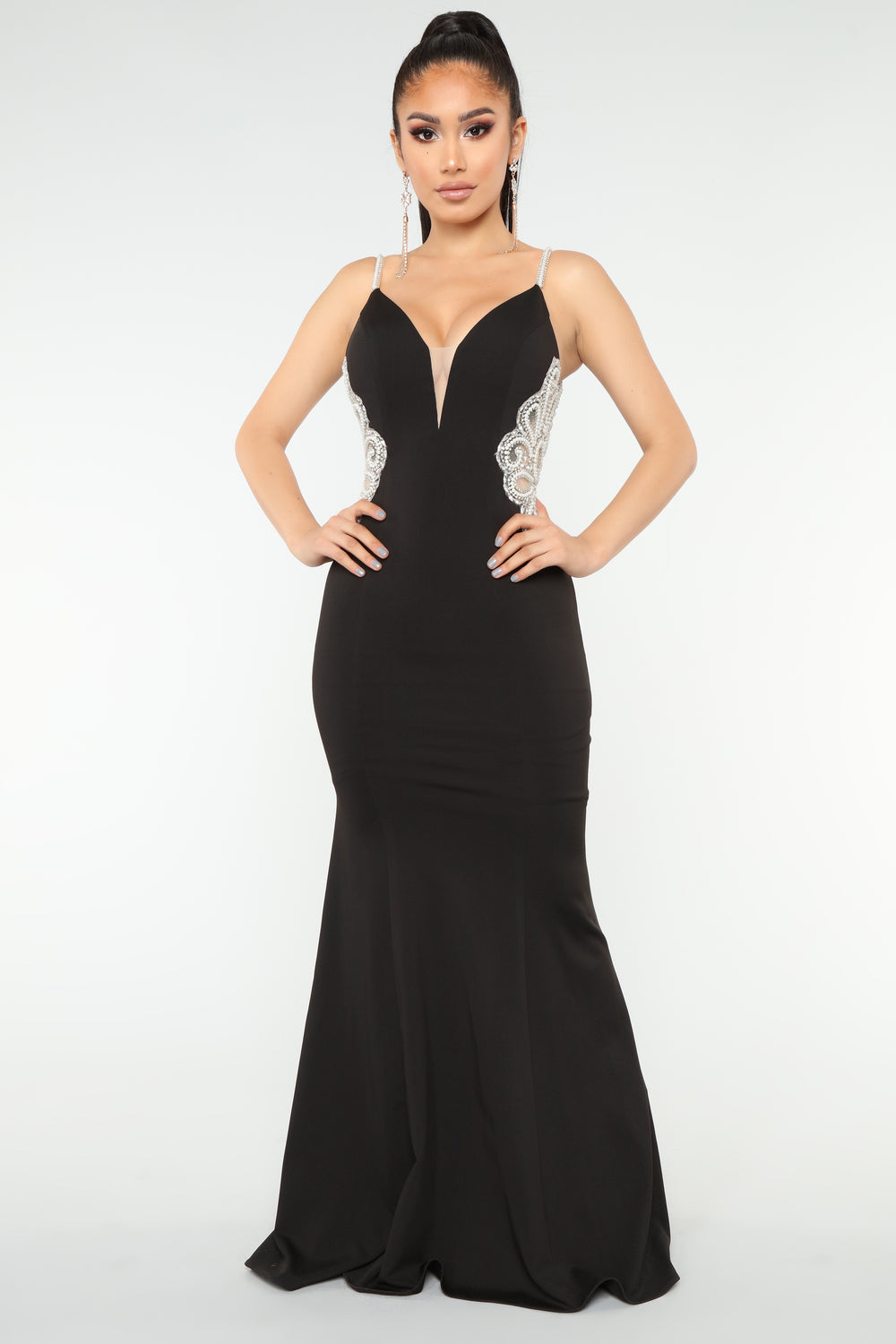 Imperial Beading Dress - Black