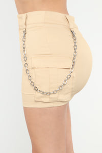 Ball And Chain Skirt - Taupe
