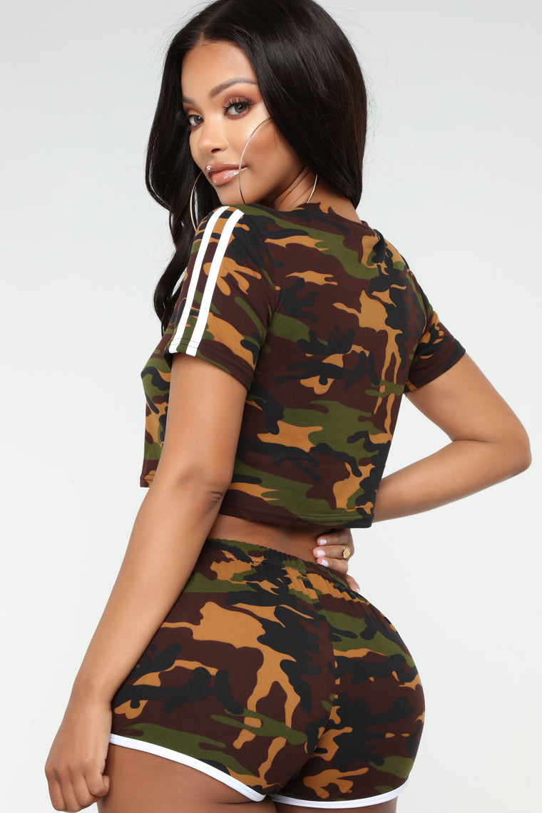 Come Through Camo Set - Olive