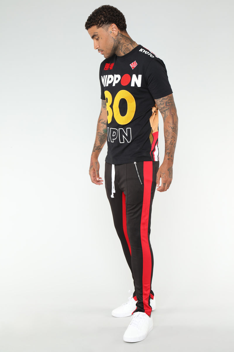 Reed Track Pants - Black/Red