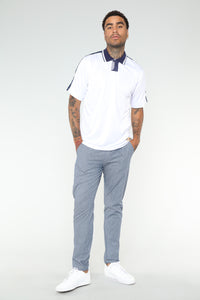 Johnson Short Sleeve Polo - White