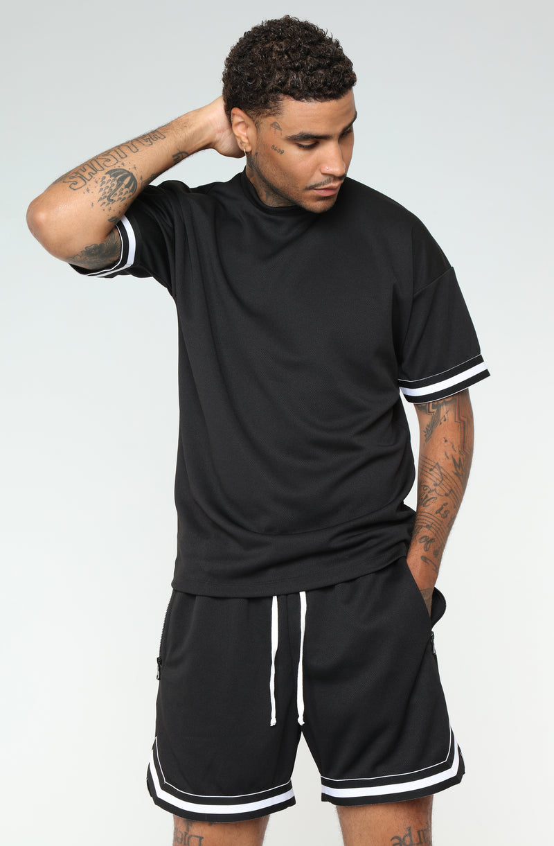 Dwayne Short Sleeve Tee - Black